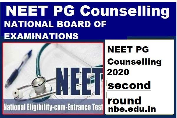 neet pg counselling 2020 registration for second round begins