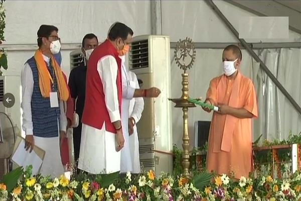yogi lays foundation stone of har ghar nal se jal scheme in bundelkhand