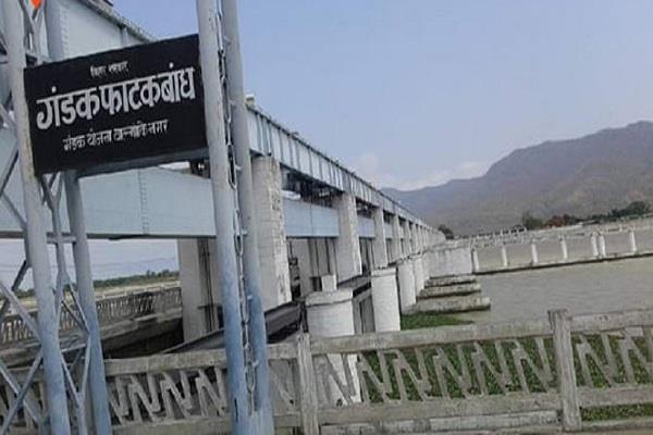 nepal gives permission to start repair work on gandak barrage