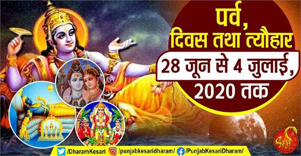 fast and festival from 28 june to 04 july 2020 in hindi