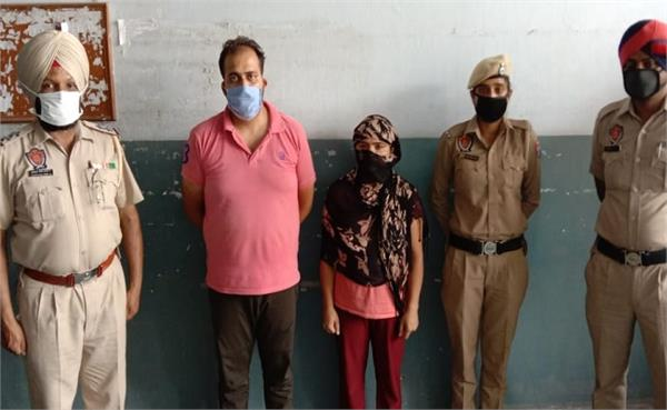 stf arrested husband and wife with 4 crore heroin