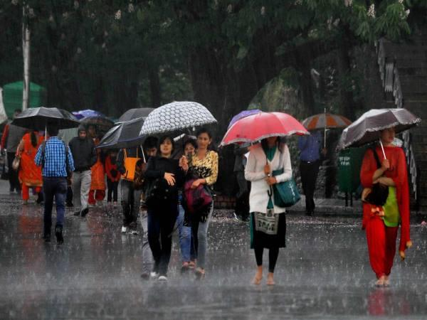 weather changed in up relief from heavy heat due to rain