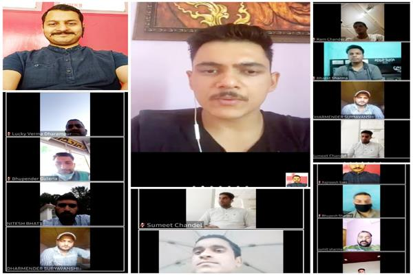 shimla congress activist social media video conference