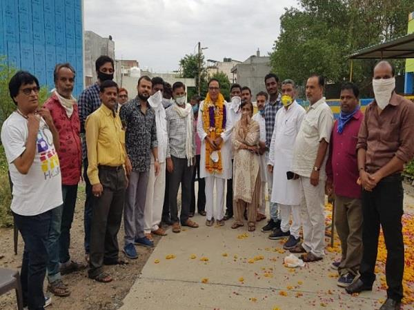 after 9 years the district president of badla mandsaur congress
