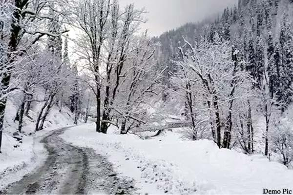snowfall in peaks of lahaul including rohtang pass