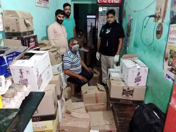 liquor consignment recovered from tea shop