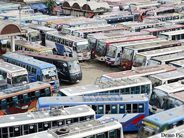 private bus operators announced buses will not run in the state from today