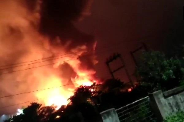 visakhapatnam fire breaks out in pharma company