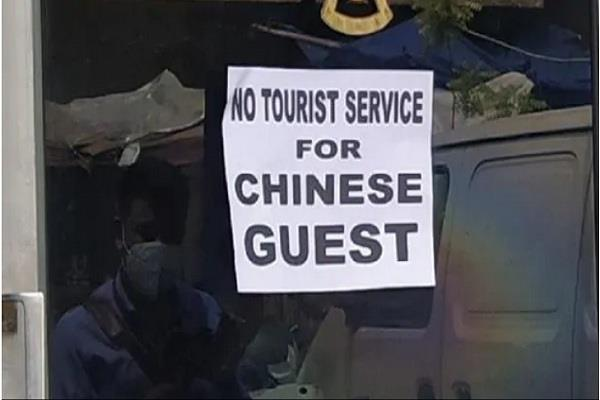 delhi taxi service also banned for chinese citizens