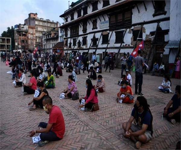 students stage demonstration outside chinese embassy in nepal