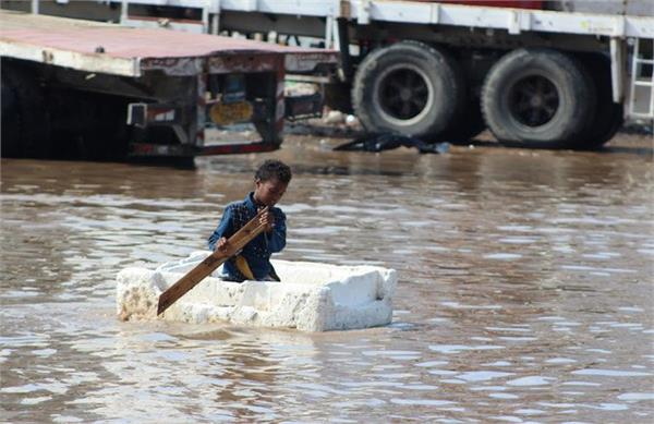 flood wreak destruction in yemen killing dozens