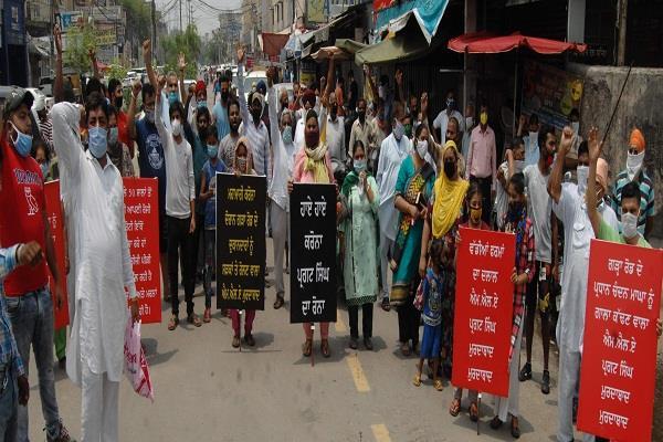 shopkeepers of garha road burnt mla pargat