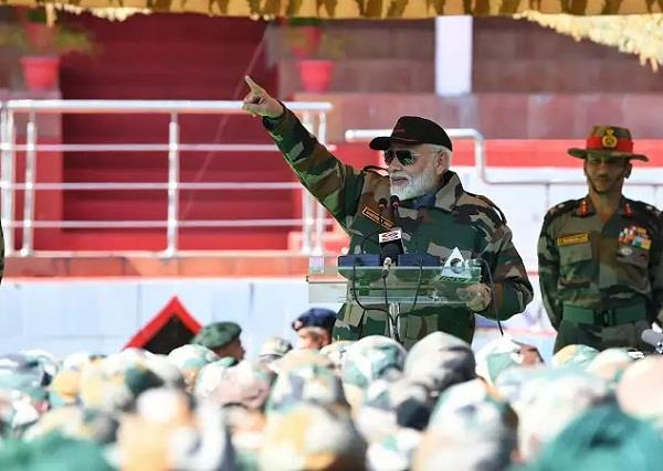 valor of soldiers will continue to inspire generations to come pm modi