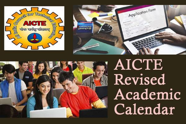 aicte revised academic calendar session for technical courses august 17