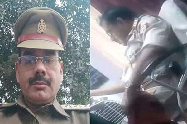 deoria police officer who indulges in indecent behavior with woman arrested