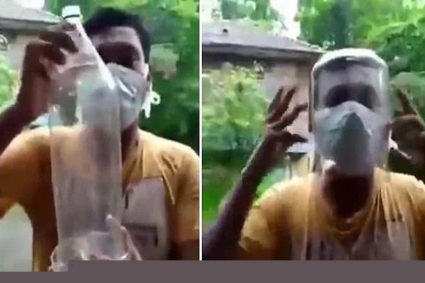 plastic face shield made in few minutes