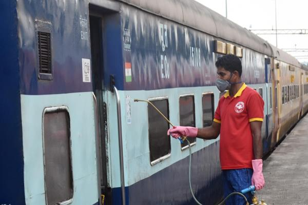 corona changed station map railways installed special machine to sanitize bags