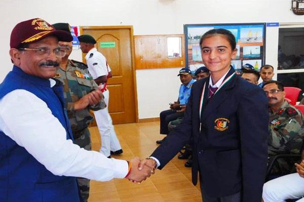 first sailing girl of jk gurjeet kour