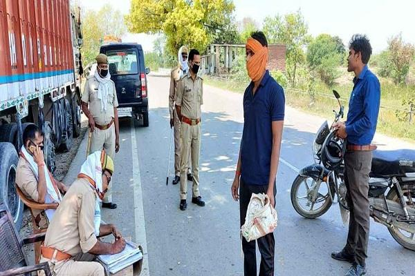 jaunpur 3313 people challaned for violation of ban