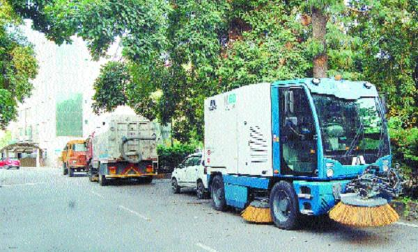 desi sweeping machines could not run from the municipal corporation