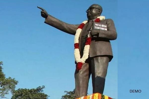 dispute between two parties over the installation of ambedkar statue