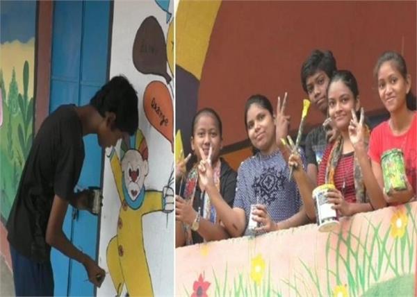 बच्चों की प्रतिभा: पेटिंग के हुनर से 5 दोस्तों बदल डाली सरकारी स्कूल की तस्वीर