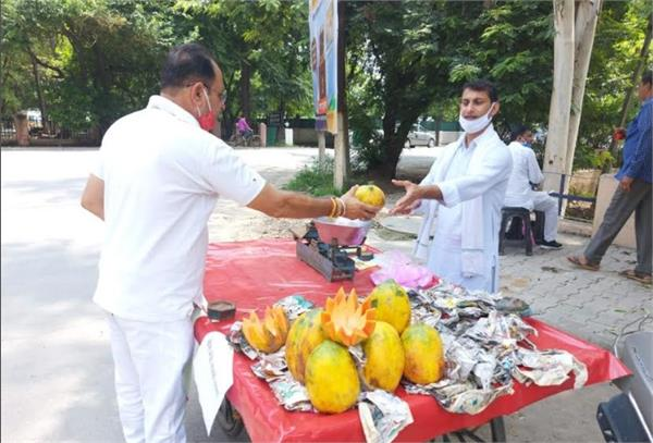 pti teachers show indignation by applying bhature chole and fruit radia