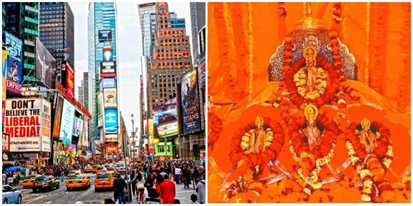 pictures of lord rama will be displayed on august 5 at america s times square