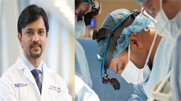 indian origin doctor perform double lung transplant on corona patient