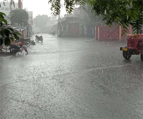 rain in many areas of up relief from heat
