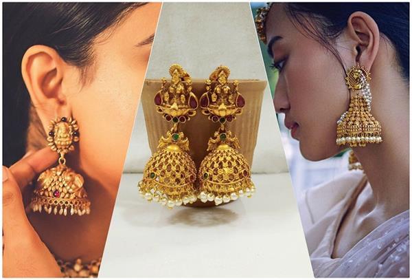 Trending! ज्वैलरी की शौकीन हैं लड़कियां इस बार ट्राई करें Temple Style Jhumkas