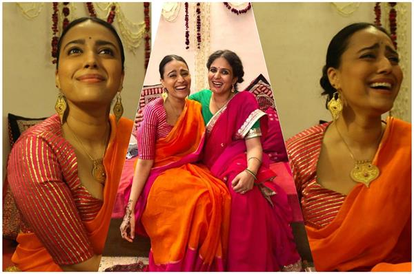 शादी में स्वरा ने पहनी 11,800 की साड़ी, ब्लाउज की कीमत उड़ा देगी होश( See Pics)