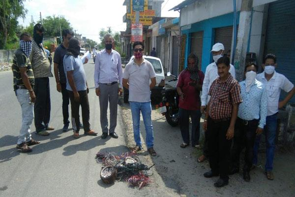 pdd dept drive against electric theft in samba
