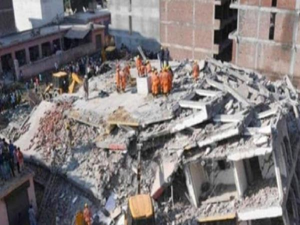 noida multi storey building collapsed many people feared buried