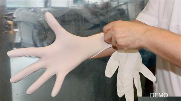 university of noida made self germ free gloves