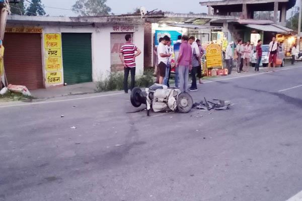 दर्दनाक सड़क हादसा: बोलैरो व स्कूटर की टक्कर, एक व्यक्ति की मौत