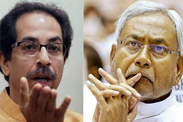 nitish demands cbi probe uddhav said  these people doing substandard politics
