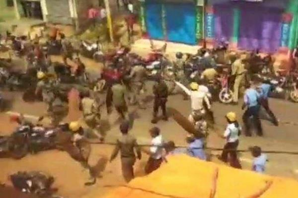 some clash in west bengal ram temple celebration amid lockdown