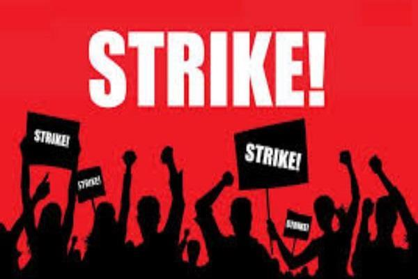 government employees strike continues departments work badly affected
