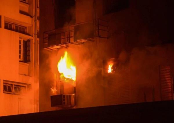 mumbai fire in multi storey building all people safely