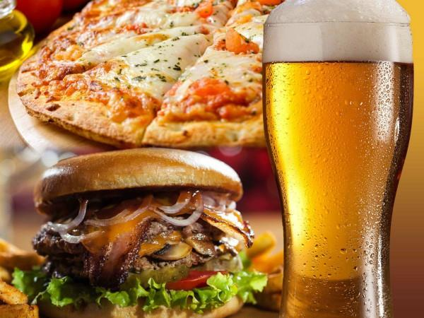beware of cold drinks with pizza burgers or fast food