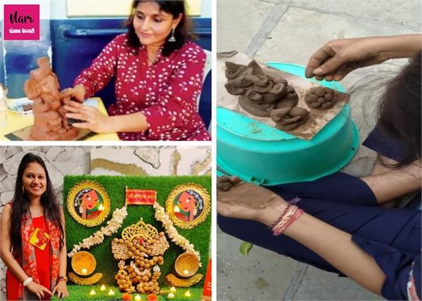 ड्राई फ्रूट्स से लेकर चॉकलेट तक, महिलाएं बना रहीं इको-फ्रेंडली गणपति