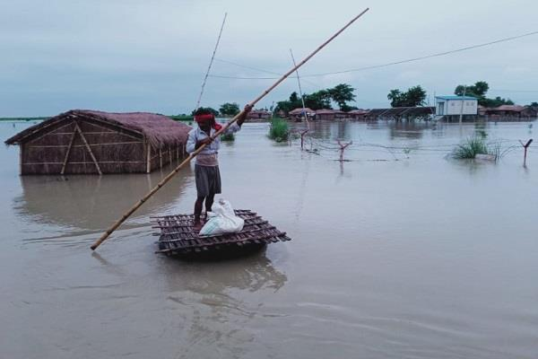 about 81 lakh population affected by floods in bihar