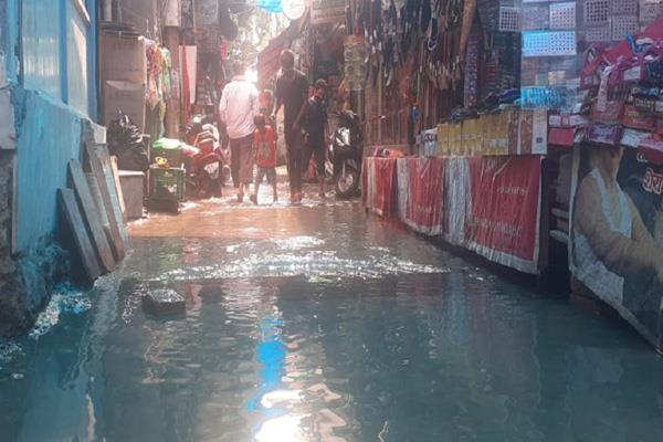 water lodge problem in kathua market