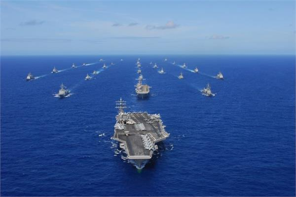 world s largest naval exercise deepens us tensions with china