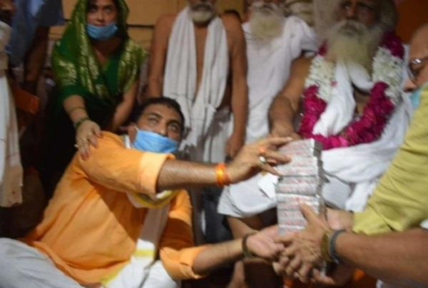 basti bjp mla ajay singh donated 15 silver bricks for ram temple