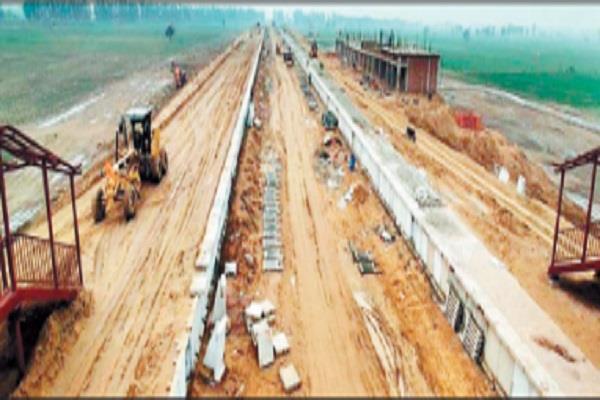 sample failure of hansi meham rohtak railway line