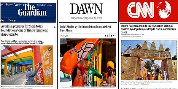 world media reaction after pm modi visit ayodhya ram mandir bhoomi pujan