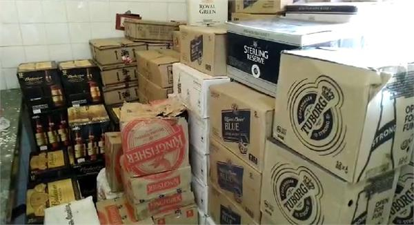 70 cases of beer seized from wagonar vehicle