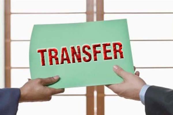 7 officers of sp level transferred
